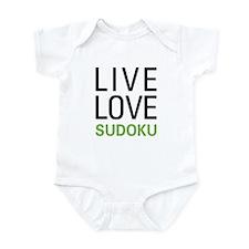 Live Love Sudoku Infant Bodysuit