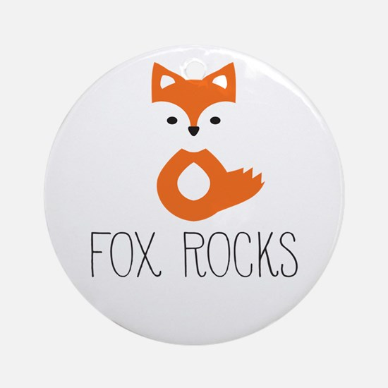 Unique Cute fox Round Ornament