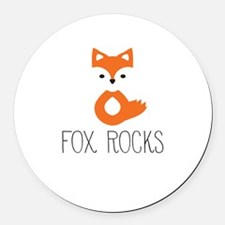 Unique Fox Round Car Magnet