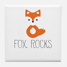 Cute Cute fox Tile Coaster