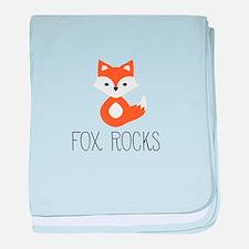 Unique Fox baby blanket