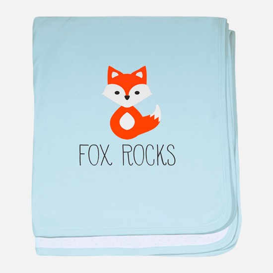 Funny Fox baby blanket