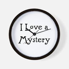 i love a mystery Wall Clock