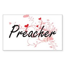 Preacher Artistic Job Design with Hearts Decal