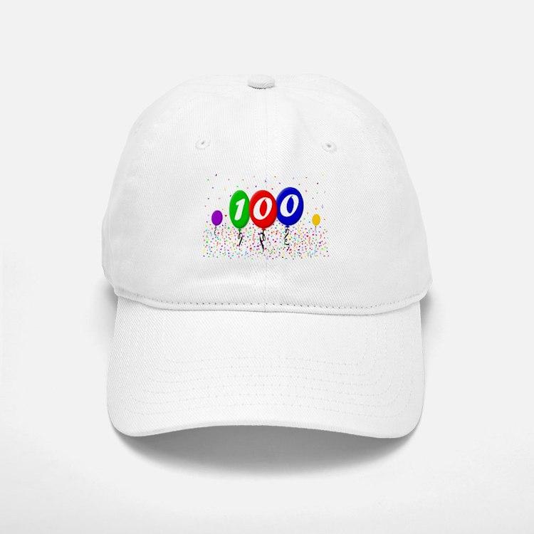 100th Birthday Baseball Baseball Cap
