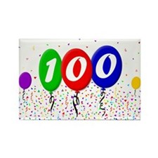 100th Birthday Rectangle Magnet