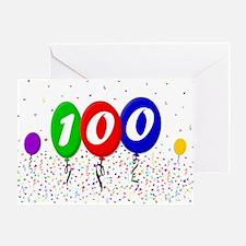 100th Birthday Greeting Card
