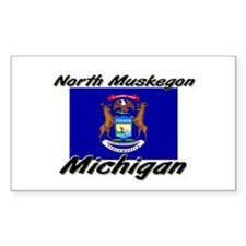 North Muskegon Michigan Rectangle Decal