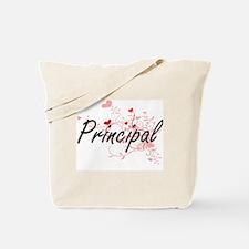 Principal Artistic Job Design with Hearts Tote Bag