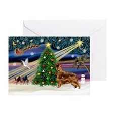 XmasMagic/Irish Setter Greeting Card