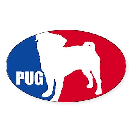 PUG Oval Oval Sticker