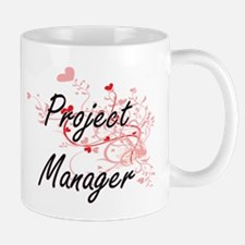 Project Manager Artistic Job Design with Hear Mugs