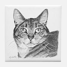 Eyes of a Tiger Tile Coaster