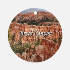 Bryce Canyon, Utah 20 (caption) Round Ornament
