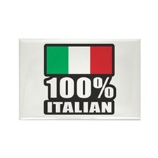 100% ITALIAN Rectangle Magnet
