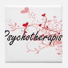 Psychotherapist Artistic Job Design w Tile Coaster