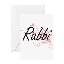 Rabbi Artistic Job Design with Hear Greeting Cards