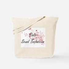 Radio Sound Technician Artistic Job Desig Tote Bag