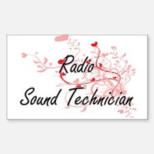 Radio Sound Technician Artistic Job Design Decal