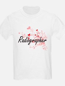 Radiographer Artistic Job Design with Hear T-Shirt