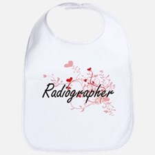 Radiographer Artistic Job Design with Hearts Bib