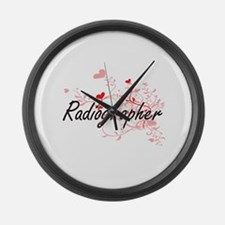 Radiographer Artistic Job Design Large Wall Clock