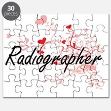 Radiographer Artistic Job Design with Heart Puzzle