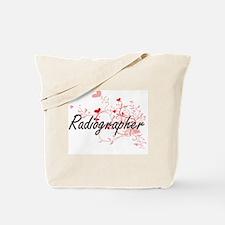 Radiographer Artistic Job Design with Hea Tote Bag