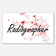 Radiographer Artistic Job Design with Hear Decal