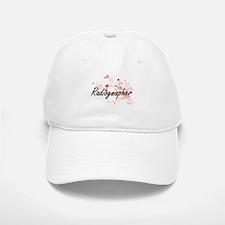 Radiographer Artistic Job Design with Hearts Baseball Baseball Cap