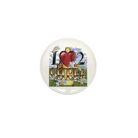 I (heart) 2 Cheer Mini Button