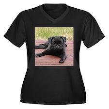 ALERT PUG PUPPY Plus Size T-Shirt