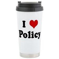 Cute I heart policy Travel Mug