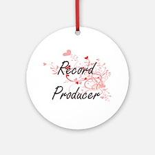 Record Producer Artistic Job Design Round Ornament