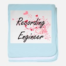 Recording Engineer Artistic Job Desig baby blanket
