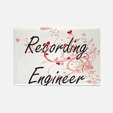 Recording Engineer Artistic Job Design wit Magnets