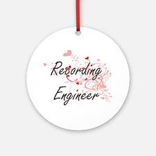 Recording Engineer Artistic Job Des Round Ornament