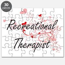 Recreational Therapist Artistic Job Design Puzzle