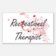Recreational Therapist Artistic Job Design Decal