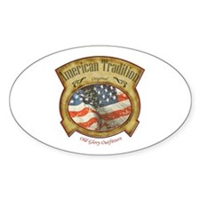American Tradition Oval Decal