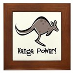 Kanga Power! Framed Tile