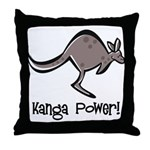 Kanga Power! Throw Pillow