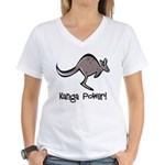 Kanga Power! Women's V-Neck T-Shirt