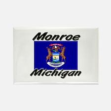 Monroe Michigan Rectangle Magnet