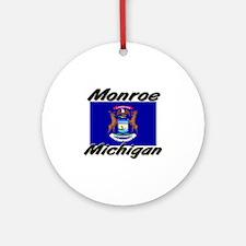 Monroe Michigan Ornament (Round)