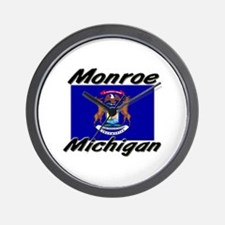 Monroe Michigan Wall Clock