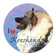 Keeshond Round Car Magnet