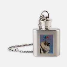 Keeshond Flask Necklace