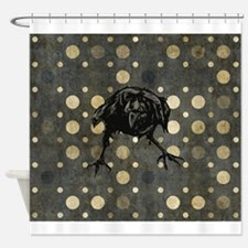 Spotted Raven Shower Curtain