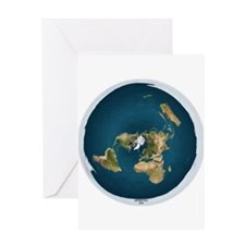 Flat Earth 1 Greeting Cards